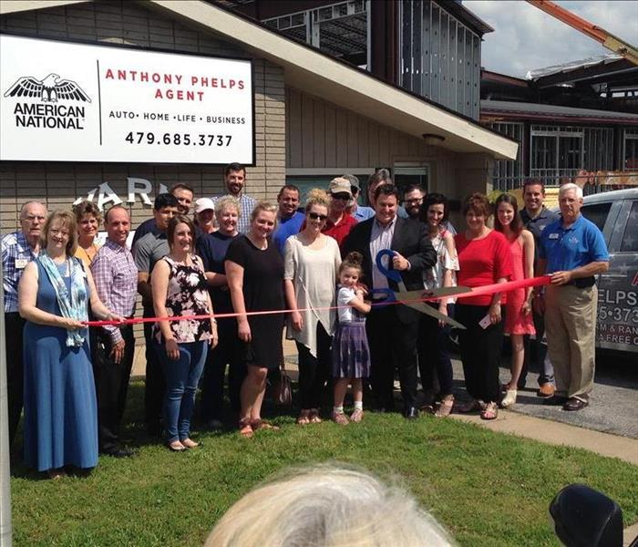 Ribbon Cutting for the Anthony Phelps American National Insurance Agency