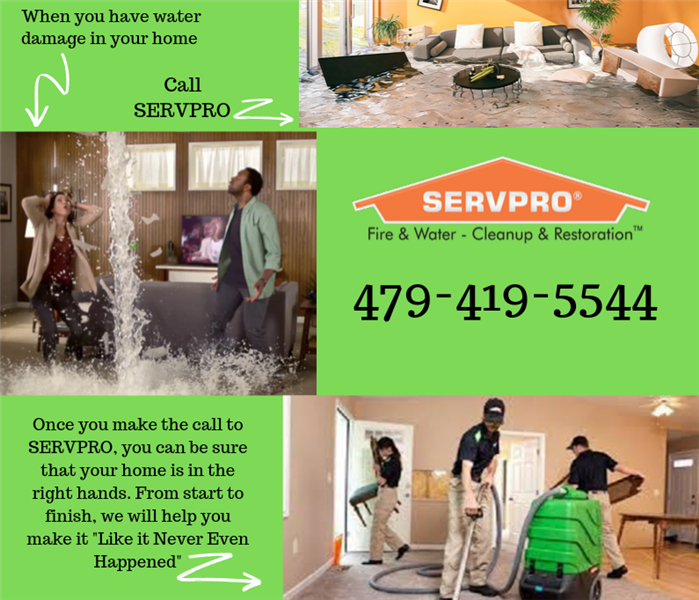 Graphic about calling SERVPRO