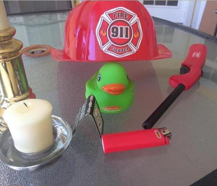Rubber Duck with fire materials and Fire hat